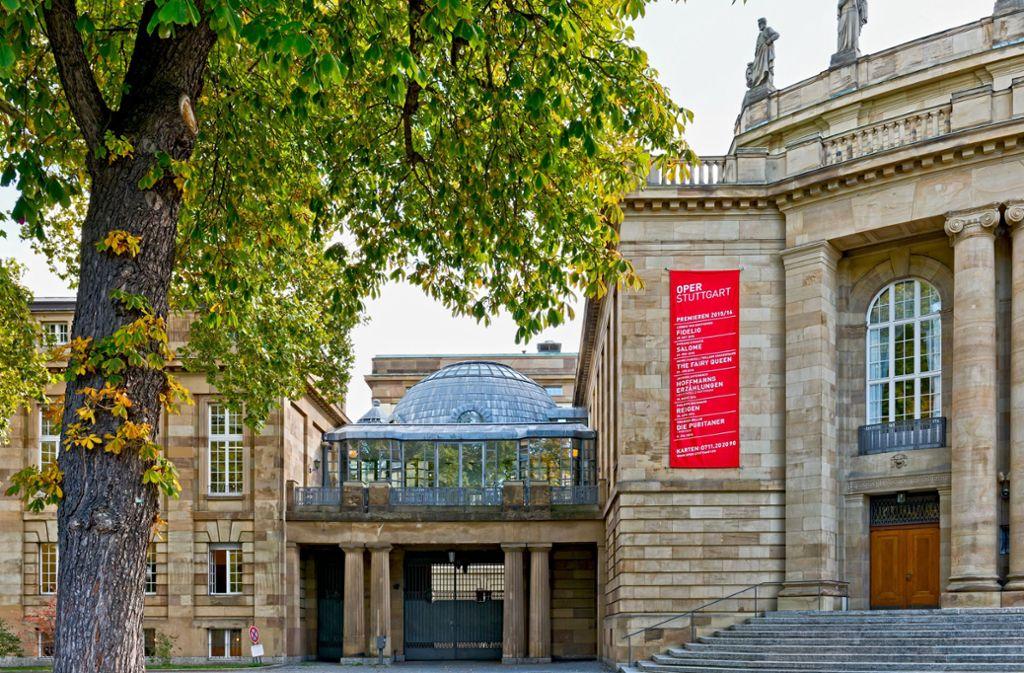 Ein Böhm en miniature: der Pausenpavillon zwischen Verwaltungstrakt und Opernhaus Foto: Landesamt für Denkmalpflege