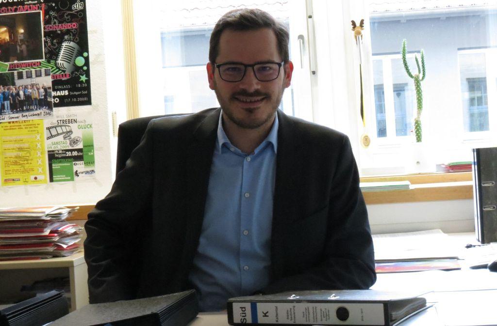 Seit Juli 2014 ist Raiko Grieb ehrenamtlicher Bezirksvorsteher des Stuttgarter Südens – und damit auch von Kaltental. Foto: Julia Bosch
