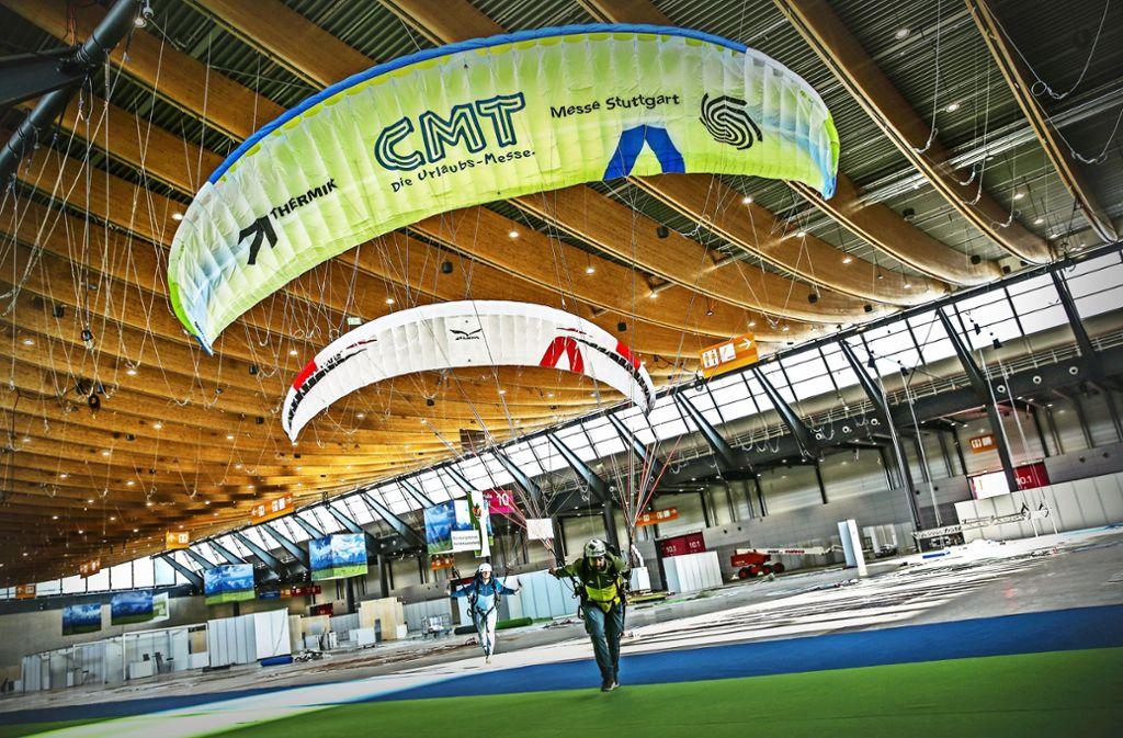 Die Messegesellschaft ist am Ziel: Vor wenigen Tagen konnte sie die neue Halle 10 übernehmen und für den Aufbau von CMT-Messeständen freigeben. Foto: Lichtgut/Leif Piechowski