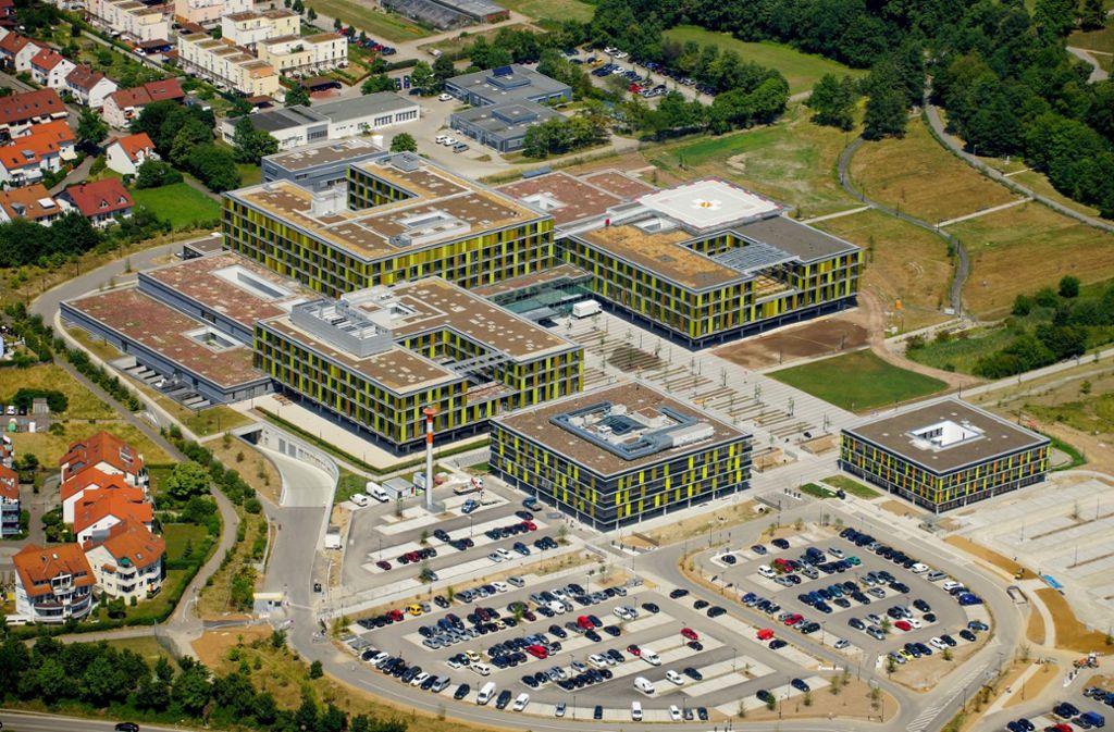 Auf dem Gelände des Rems-Murr-Klinikums Winnenden hat sich ein tragischer Unfall ereignet. Foto: Privat