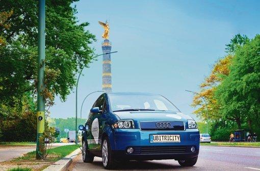 Demnächst will die junge Berliner Firma Ubitricity 100 Straßenlaternen mit Steckdosen ausstatten. Foto: Ubitricity