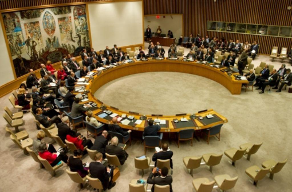 Der Konferenzraum des UN-Sicherheitsrats. (Archivfoto) Foto: dpa