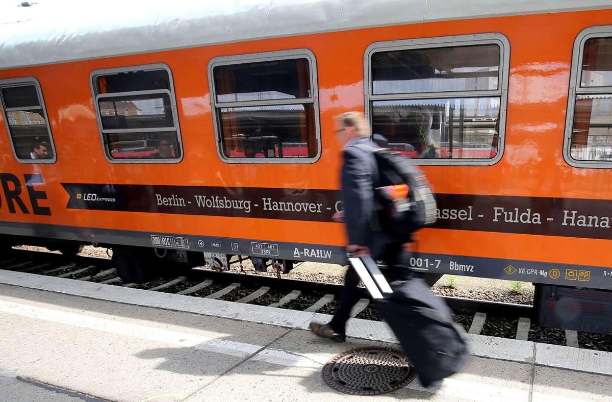 Das tschechische Unternehmen Leo Express hat den Zugbetrieb, den es vor ein paar Jahren von Locmore übernommen hatte, eingestellt. Foto: dpa/Wolfgang Kumm