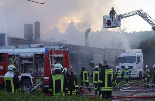 Schreinerei brennt - Sachschaden in Millionenhöhe