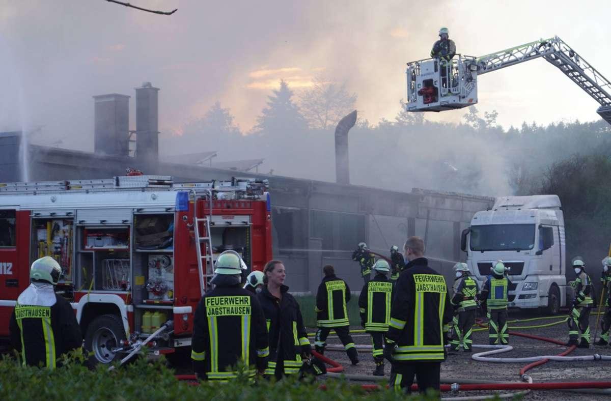 Bei dem Brand entstand ein hoher Schaden. Foto: 7aktuell.de/ Hessenauer