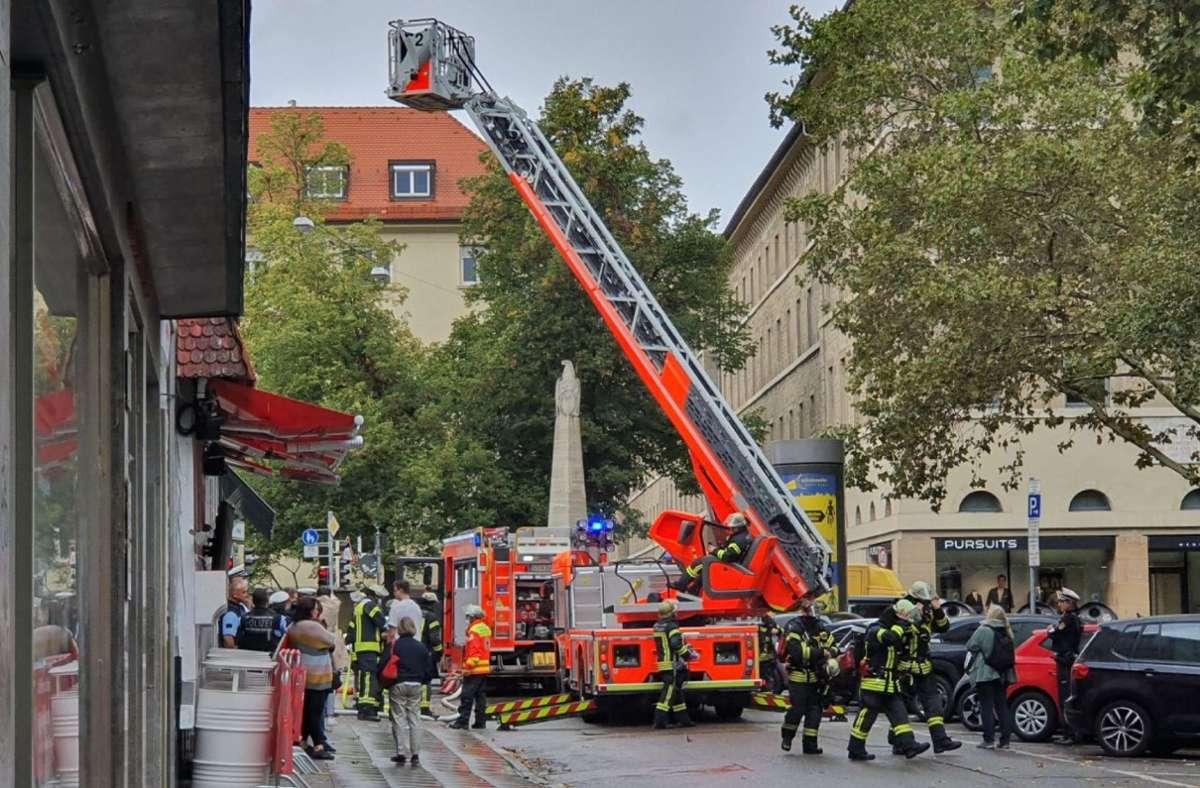 Feuerwehreinsatz in der Paulinenstraße Foto: SDMG/SDMG / Pusch