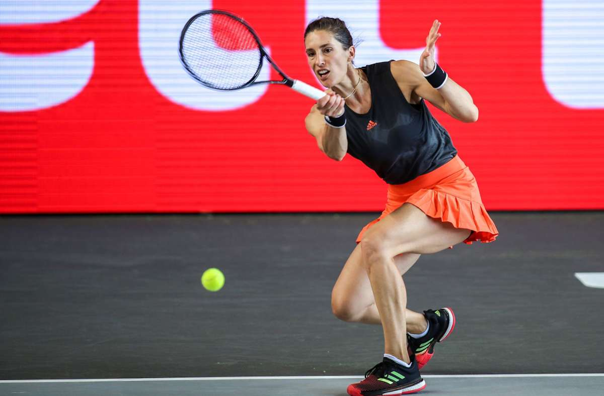Andrea Petkovic verlor im Halbfinale gegen Petra Kvitova. Foto: dpa/Andreas Gora