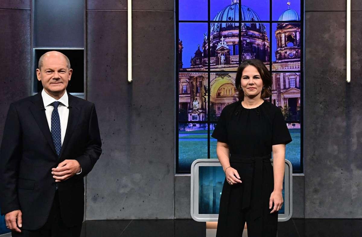 Olaf Scholz und Annalena Baerbock Foto: AFP/TOBIAS SCHWARZ