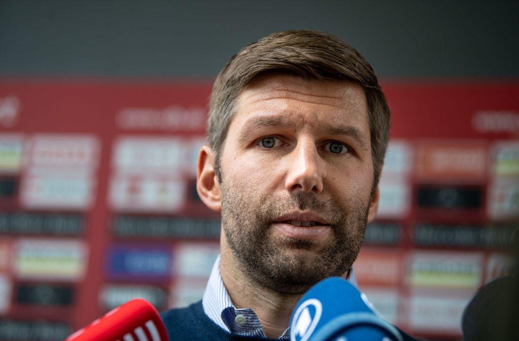 Der 37 Jahre alte Thomas Hitzlsperger hatte den Posten als VfB-Sportvorstand im Februar übernommen. Foto: dpa