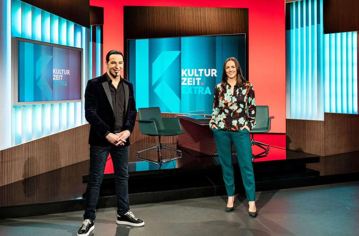 "Comedian Bülent Ceylan ist zu Gast in der TV-Sendung ""Kulturzeit"". Foto: dpa/Jana Kay"