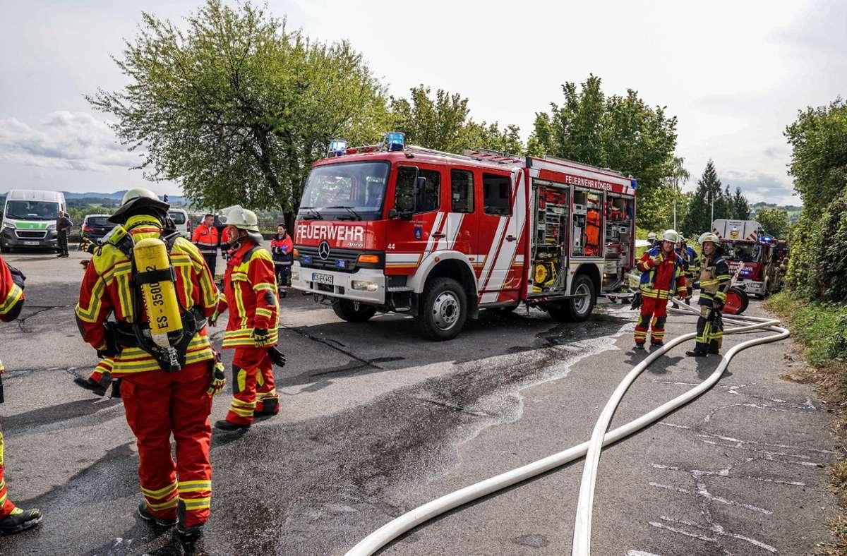 Die Feuerwehr war mit 17 Einsatzkräften vor Ort. Foto: SDMG/Kohls