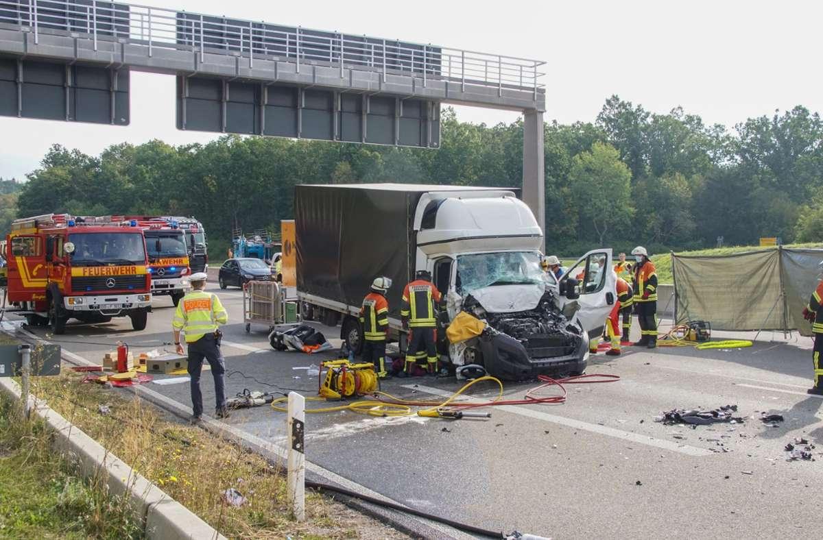 Der Unfall ereignete sich auf der A81 bei Hildrizhausen. Foto: SDMG/SDMG / Dettenmeyer