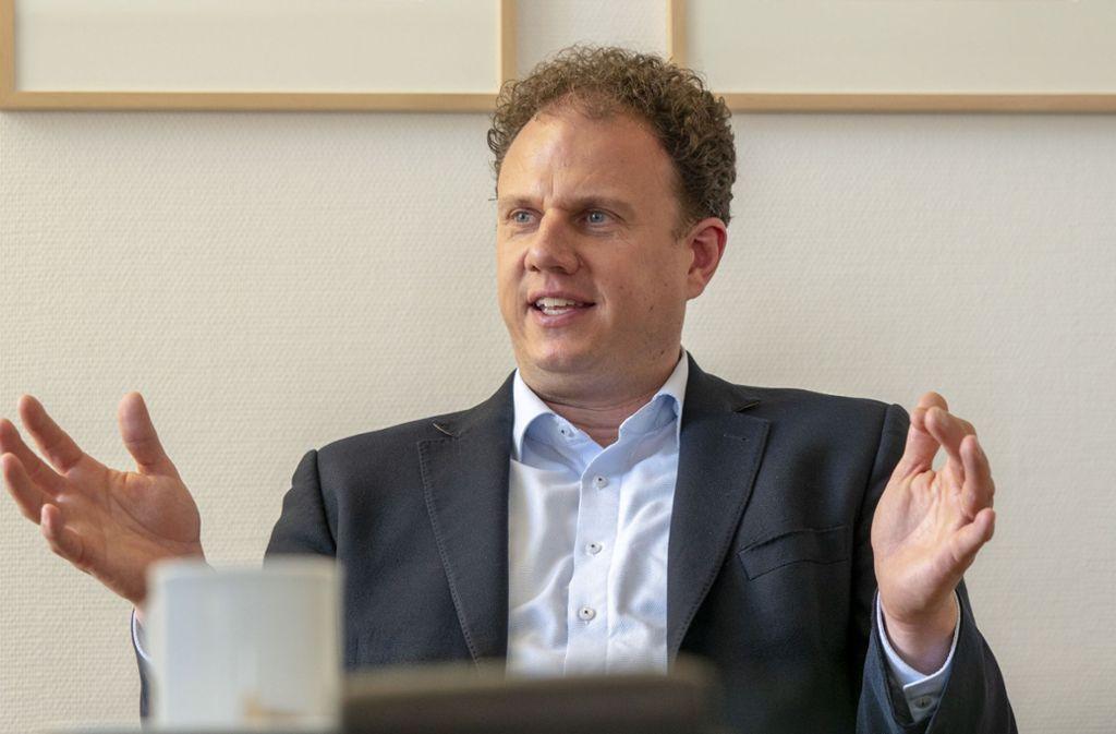Der Ludwigsburger OB Matthias Knecht hofft, Fahrverbote begrenzen zu können. Foto: factum//Andreas Weise