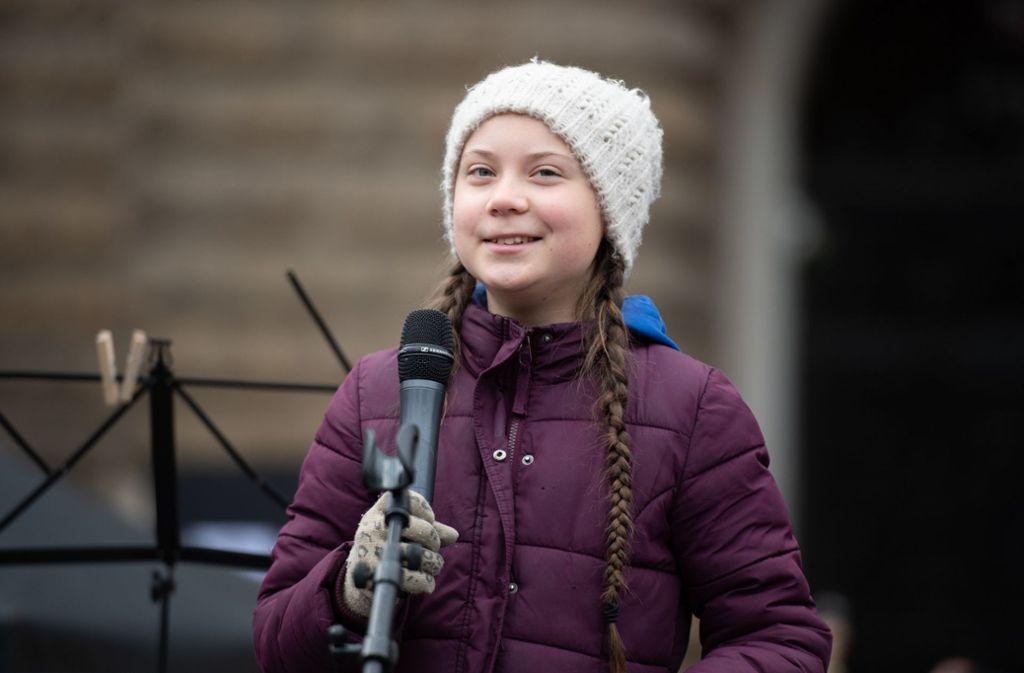 Greta Thunberg kann sich über ihr Zeugnis freuen Foto: dpa