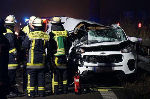 Schwerverletzter bei Unfall auf der A 8