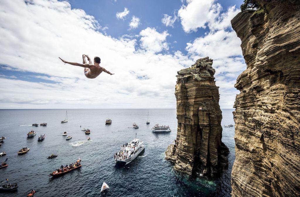 """Bei der """"Red Bull Cliff Diving World Series"""" haben sich die besten Klippenspringer der Welt gemessen. Mehr Fotos gibt es in unserer Bildergalerie. Foto: Getty"""