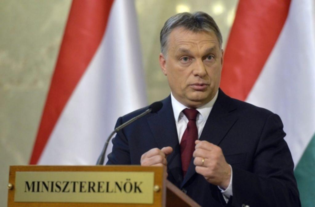 """Man müsse """"die Todesstrafe auf der Tagesordnung behalten"""", sagt Ungarns rechtsnationaler Ministerpräsident Viktor Orban. Foto: MTI"""