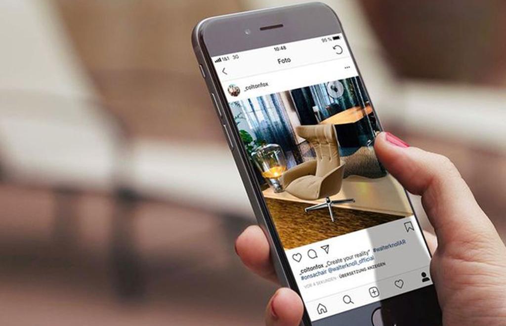 Walter Knoll bietet eine frei zugängliche App, mit der sich Möbel spielerisch gestalten, verrücken und austauschen lassen. Foto: Walter Knoll
