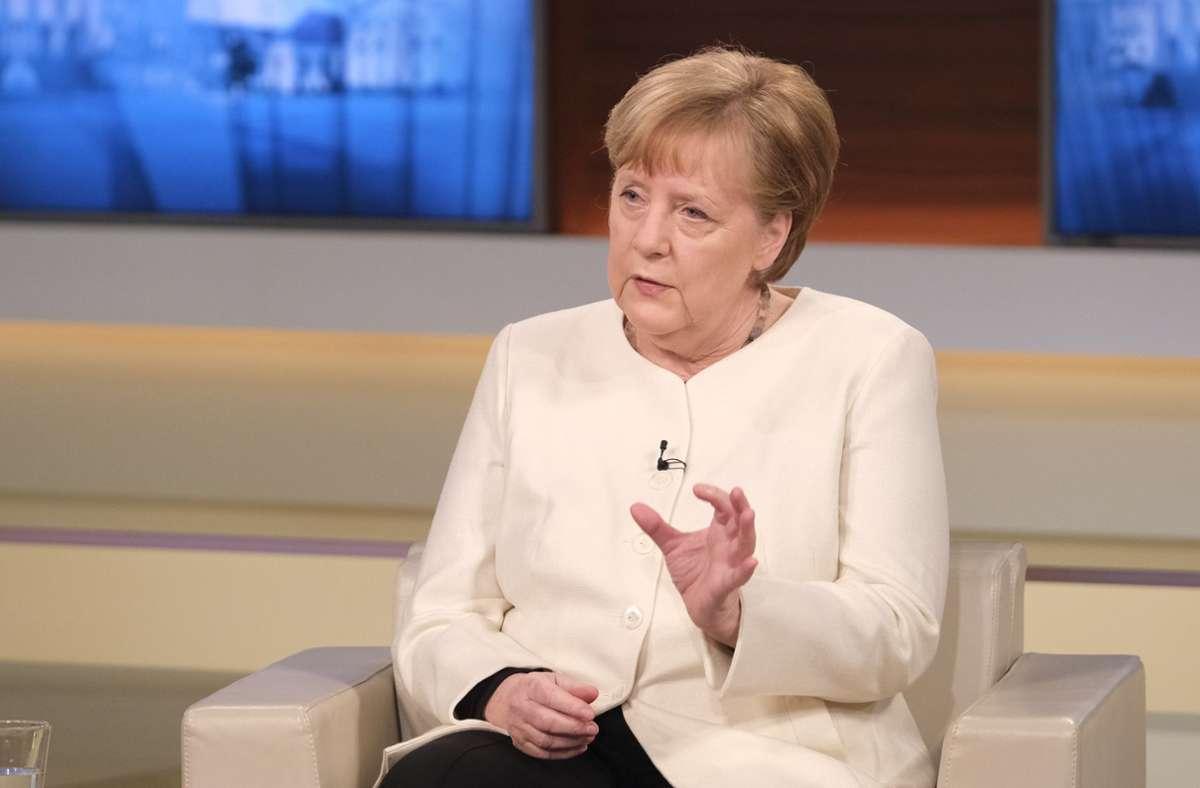 Angela Merkel stellte sich den Fragen von Anne Will. Foto: dpa/Wolfgang Borrs