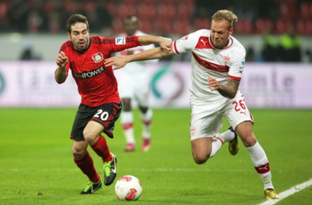 Zweikampf: Raphael Holzhauser (rechts) Foto: dpa