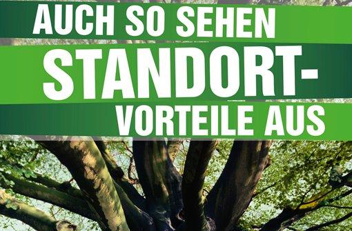 Projektgegner kritisieren Wahlplakat der Grünen