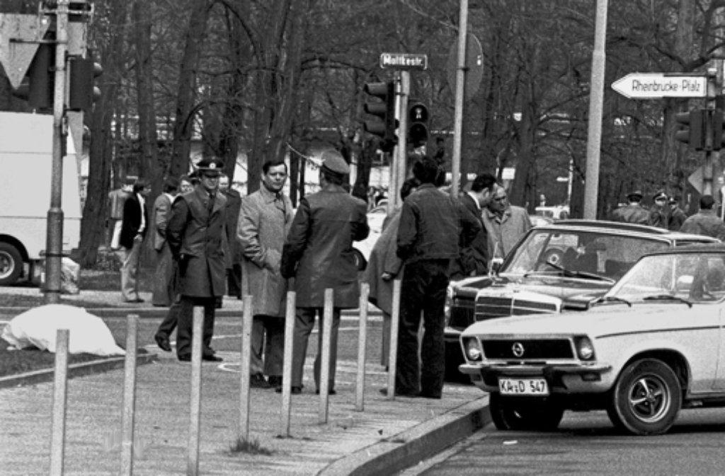 Tatort Karlsruhe: Bis heute ist ungeklärt, wer auf Siegfried Buback schoss. Foto: dapd