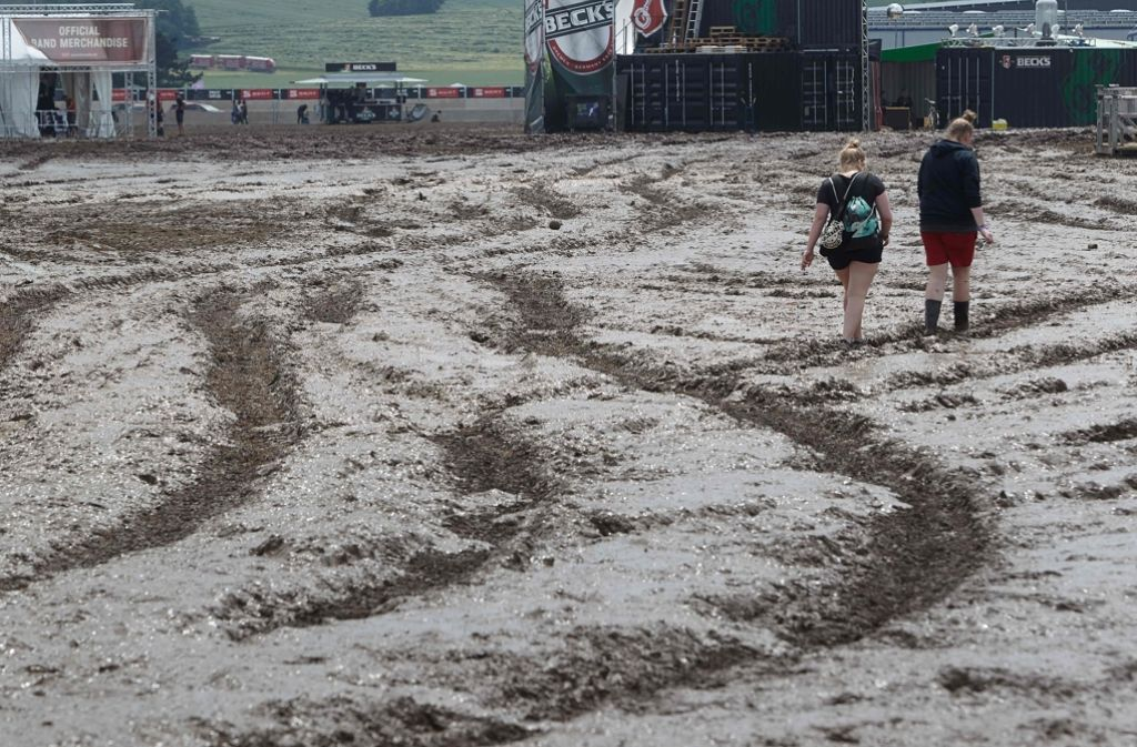 Schluss und vorbei. Das Festival Rock am Ring ist wegen der Unwetterwarnungen abgebrochen worden. Das sorgt für Unmut in den sozialen Netzwerken.  Foto: dpa