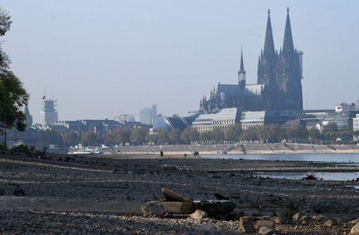 Niedrigwasser im Rhein – Tanker läuft auf Grund