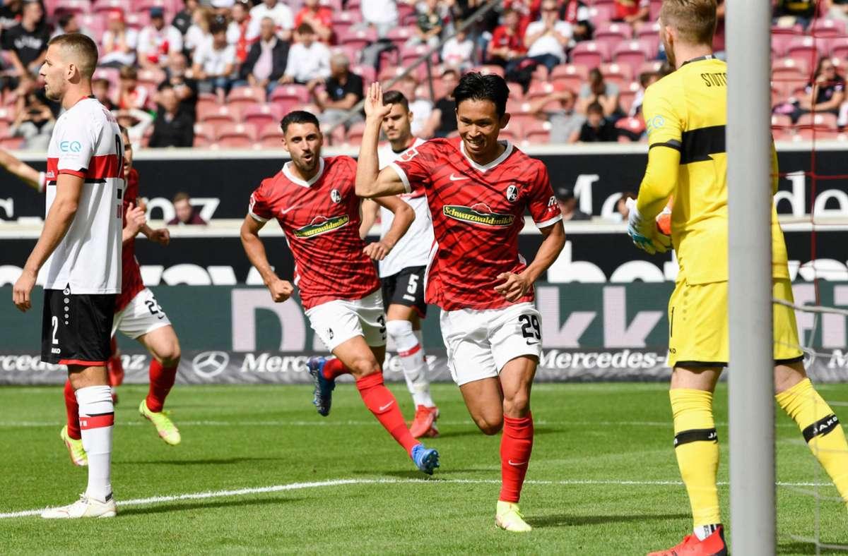 Unsere Redaktion hat die Leistungen der VfB-Profis wie folgt bewertet. Foto: AFP/THOMAS KIENZLE