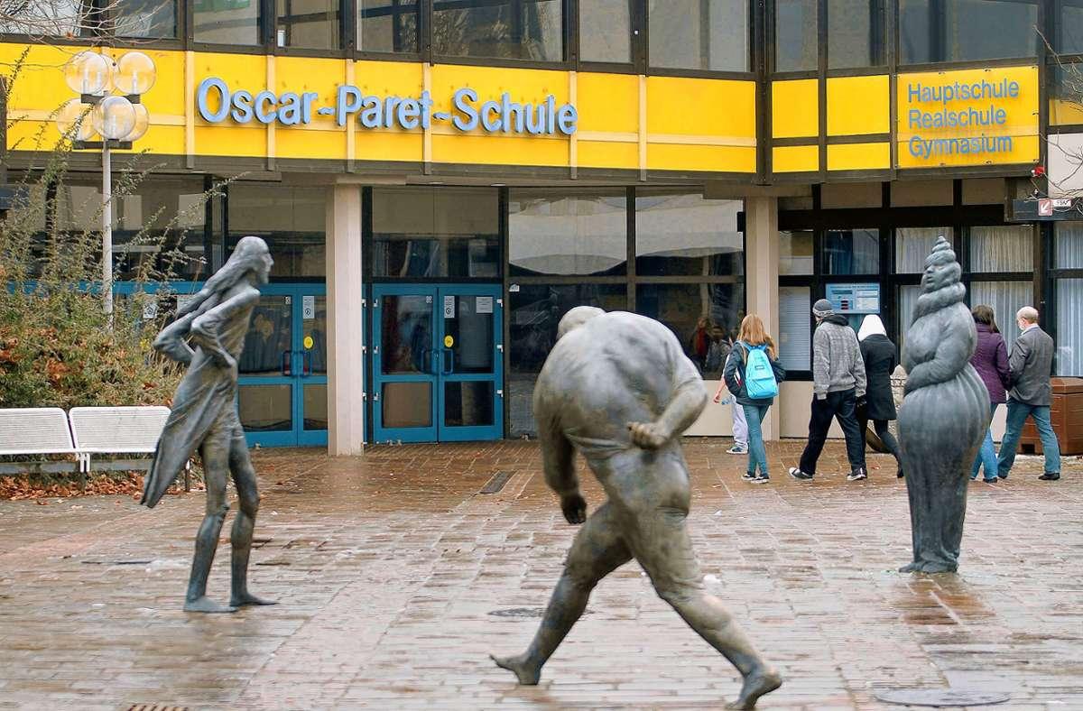 17 Schüler der Oscar-Paret-Schule befinden sich in Quarantäne. Foto: Archiv/factum