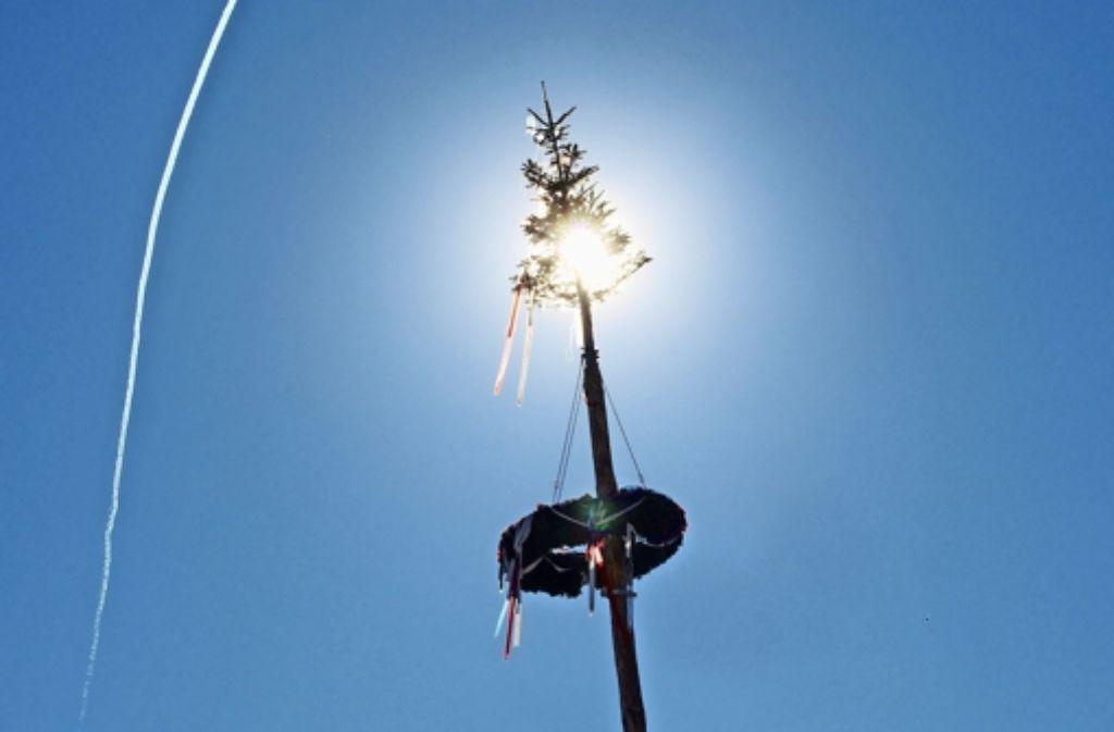 """Der Narrenbaum verdeutlicht, dass Fasnachtszeit ist. Am Sonntag gibt's einen """"Gottesdienst zur Fasnet"""" in Gerlingen Foto: factum/Weise"""