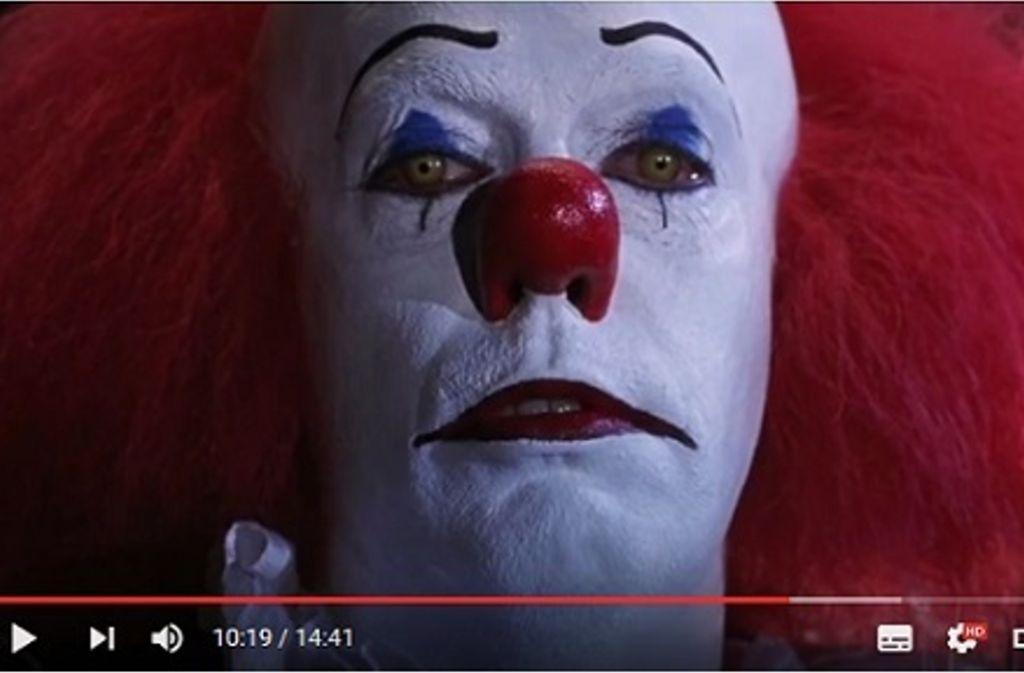 """Der Clown Pennywise aus dem Horrorfilm """"Es"""" ist immer für einen Schocker zu haben. Foto:Screenshot/youtube Foto:"""