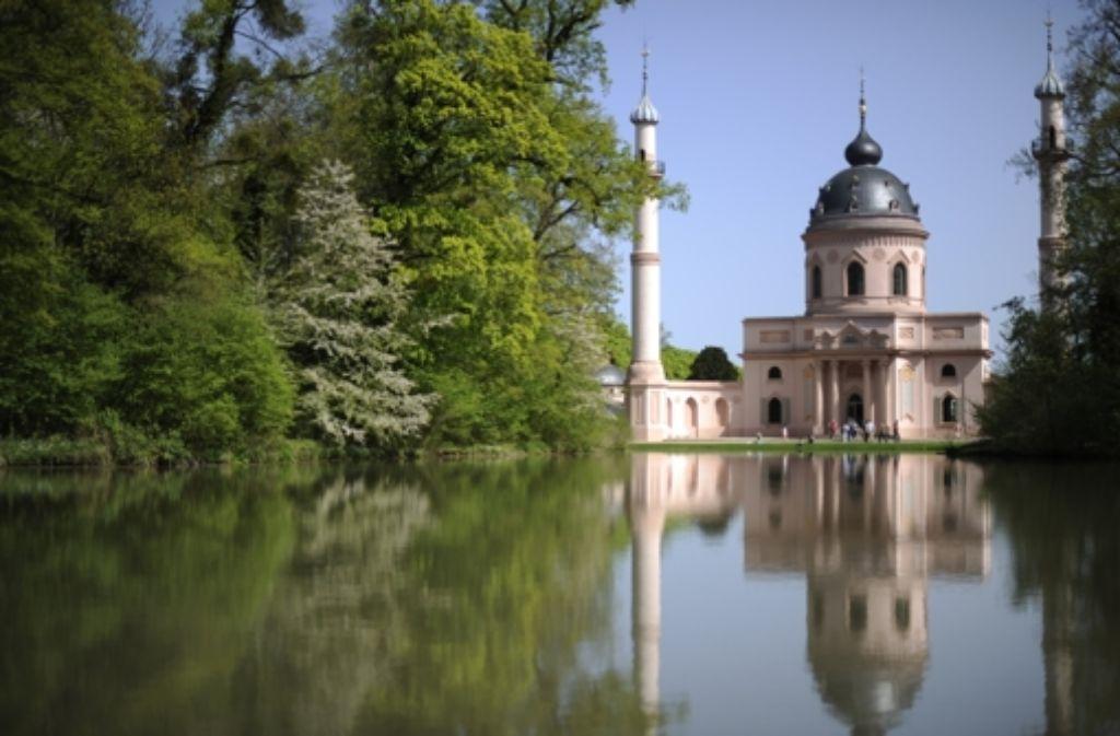 Die Unesco-Gutachter rieten, den Stellenwert der Roten Moschee im Schlossgarten als Symbol des kulturellen Austausches  in einem möglichen neuen Antrag zu betonen. Foto: dpa