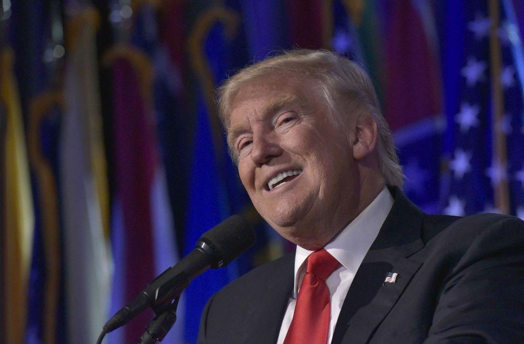 Donald Trump freut sich: In seinen Augen hat die New York Times ein Schuldeingeständis abgeliefert. Foto: AFP