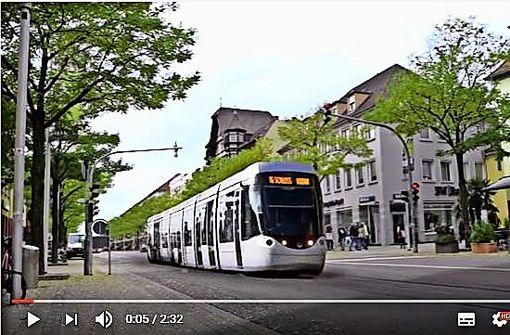 Auf Youtube fährt die Stadtbahn schon