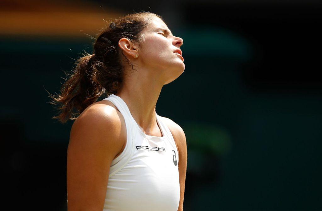 Julia Görges übersprang die Hürde Serena Williams nicht. Foto: Getty Images