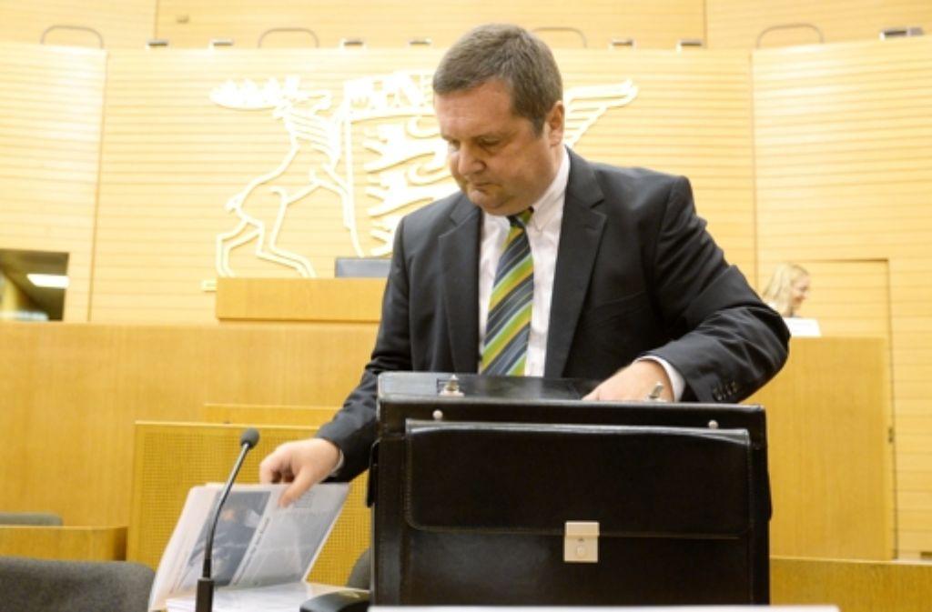 Stefan Mappus attackiert Foto: dpa