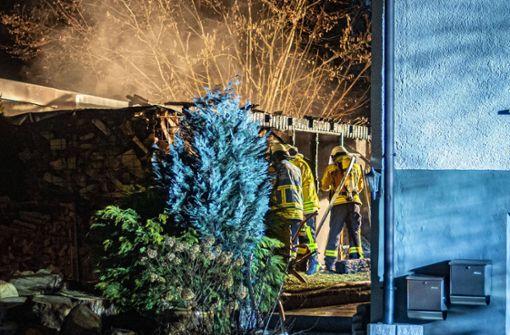 Gartenschuppen fängt Feuer – Ursache noch nicht zweifelsfrei geklärt