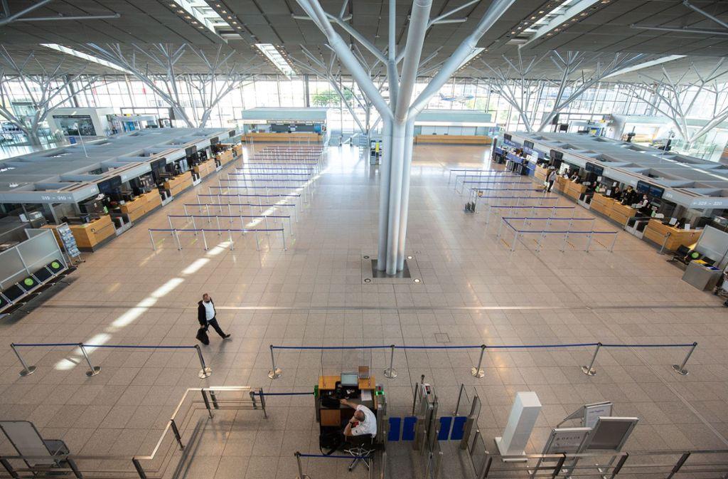 Zu Beginn der Pfingstferien herrschte gähnende Leer am Stuttgarter Flughafen. Foto: Leif Piechowski/Leif-Hendrik Piechowski