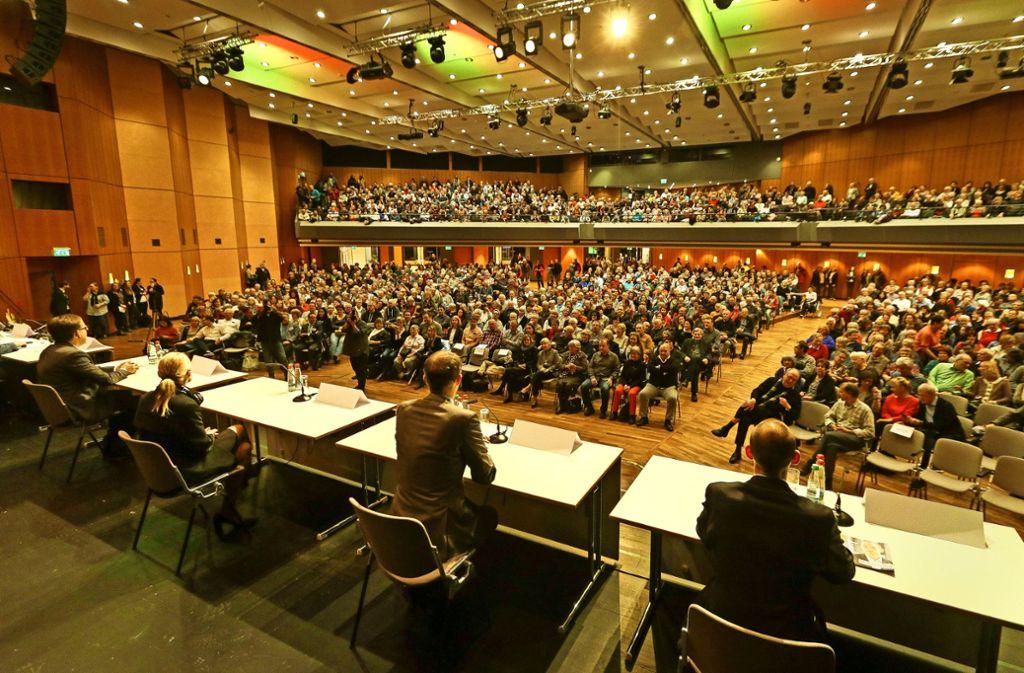 Stellen sich den Wählern: Johannes Söhner, Fridi Miller, Wolfgang Lützner und Stefan Belz (von links) Foto: factum/Granville