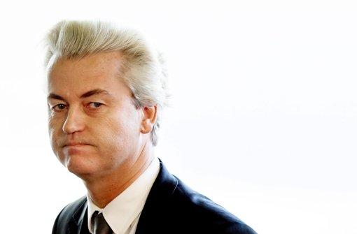 Geert Wilders spricht bei Kundgebung im April