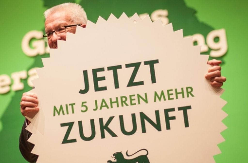 Kretschmann ist das Zugpferd der Grünen in Baden-Württemberg. Foto: dpa