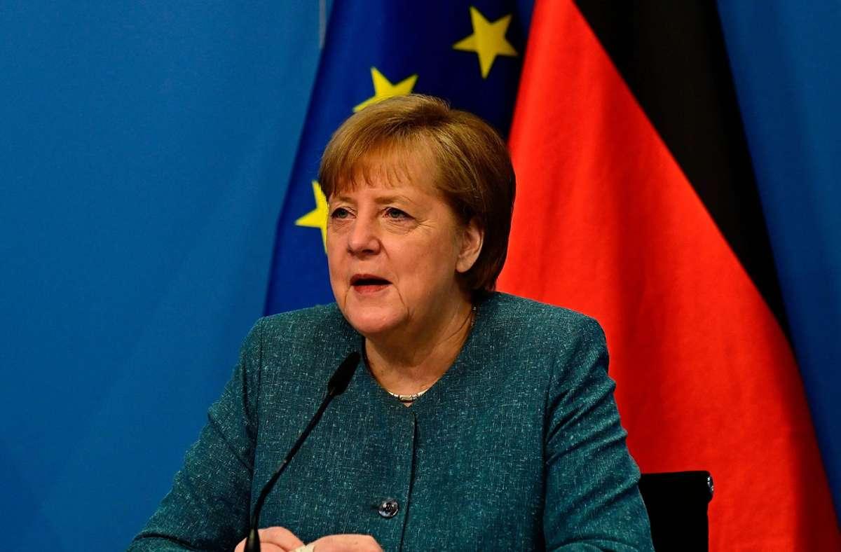 Bundeskanzlerin Angela Merkel (CDU) Foto: AFP/TOBIAS SCHWARZ
