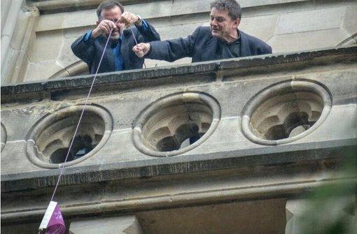 Ein Wimpel am Kirchturm entspricht 10000 Euro –  fünf fehlen noch