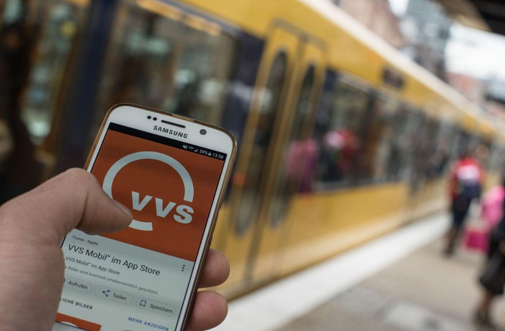 Nebenwirkungen des Bahnstreiks in Stuttgart und der Region: Die Smartphone-Apps der VVS und SSB waren am Montagmorgen nicht erreichbar. Foto: Lichtgut/Max Kovalenko