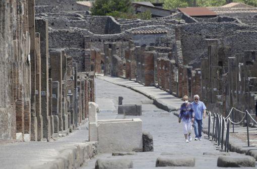 US-Paar wartet über zwei Monate auf Öffnung der Ruinen von Pompeji