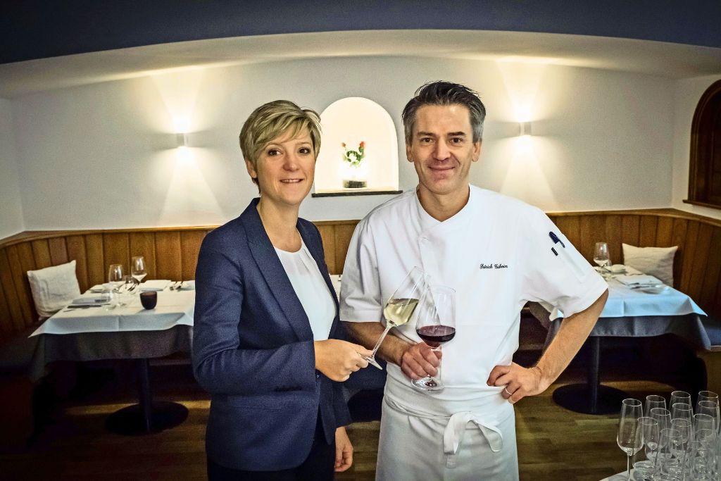 Restaurantleiterin Insa Breit und Koch Patrick Giboin im Fässle. Foto: Lichtgut/Achim Zweygarth