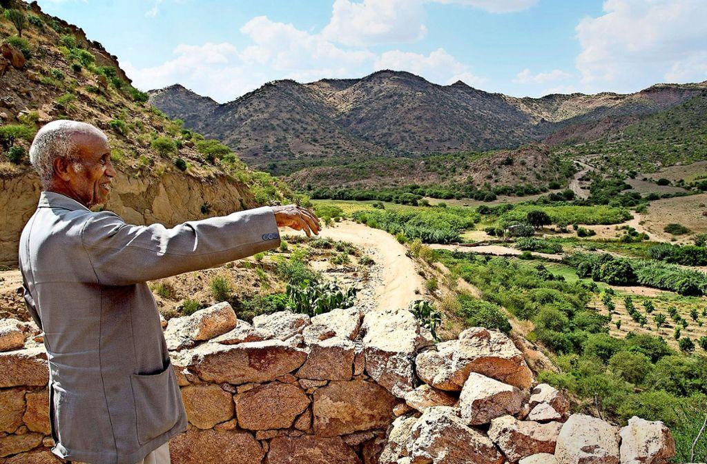 Nach der Rückkehr in sein Heimatland Eritrea hat sich Amare Desta ein Stück Land gekauft. Dort baut er Gemüse an. Foto: privat