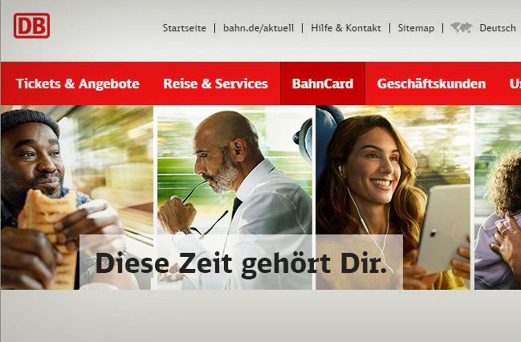 Ein Ausschnitt des Werbebanners auf der Website der Deutschen Bahn mit Sternekoch Nelson Müller (l.) und Moderatorin Nazan Eckes (r.) Foto: Bahn