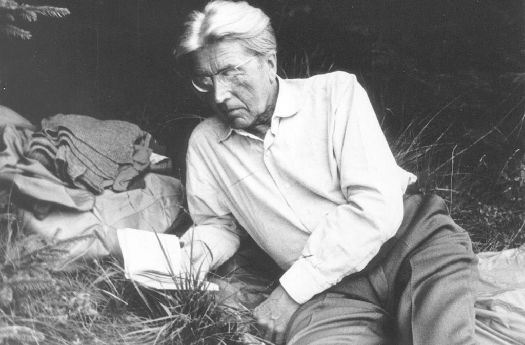 Der Stuttgarter Dichter Hermann Lenz Foto: Hermann-Lenz-Stiftung München